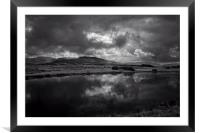 Storm clouds over Brecon Beacons, Framed Mounted Print
