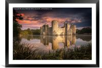 Bodiam Castle, Framed Mounted Print