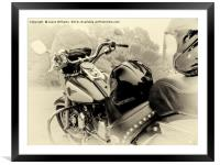 Born To Live, Live To Ride, Framed Mounted Print
