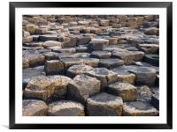 The Giants Causeway, Northern Ireland, Framed Mounted Print