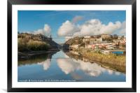 Clifton Suspension Bridge Reflected, Framed Mounted Print