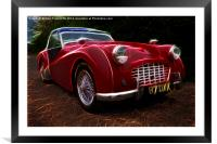 Triumph TR3, Framed Mounted Print