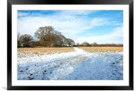 Snow covered field, Framed Mounted Print