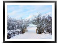 Archway snowed in field, Framed Mounted Print