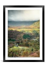 Dolbadarn Castle - A view from above, Framed Mounted Print