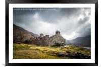 Storm Clouds at Dinorwic Quarry, Framed Mounted Print