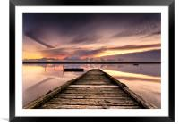 Sundown at the Jetty, Framed Mounted Print