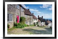 Cobbles at Gold Hill, Framed Mounted Print