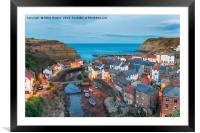 Staithes in Yorkshire, Framed Mounted Print