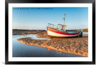 Fishing Boats at Burnham Overy Staithe, Framed Mounted Print