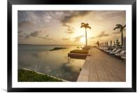Tropical Sunset, Framed Mounted Print