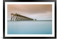Hartlepool Steetley Pier, Framed Mounted Print