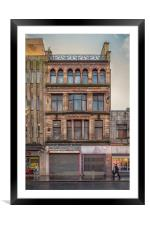 Glasgow Street Facade, Framed Mounted Print