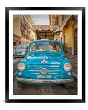 Classic Fiat 600 in Rome, Framed Mounted Print