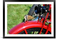 Motorcycle Indian, Framed Mounted Print