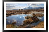 Leum Uillem from Corrour Station on Rannoch Moor, Framed Mounted Print