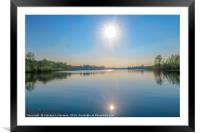 Sunny Day at The Lake, Framed Mounted Print