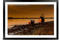 Awaiting the Tide, Framed Mounted Print