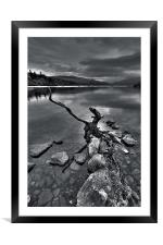 Evening At The Loch, Framed Mounted Print