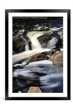 Waterfall in Glen Orchy, Framed Mounted Print