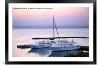 Yachts Moored in Abu Soma, Framed Mounted Print