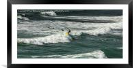 Surfers 3, Framed Mounted Print