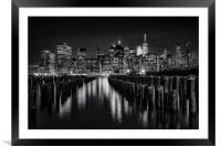 Darkness In New York City, Framed Mounted Print