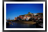 Whitby South Cliff, Framed Mounted Print