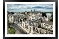 All Souls College - Oxford University, Framed Mounted Print