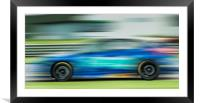 Racing car motion blur , Framed Mounted Print