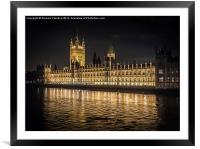 Palace of Westminster, Framed Mounted Print