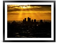 Canary Wharf and Docklands, Framed Mounted Print
