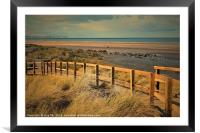 Quiet Day At The Beach, Framed Mounted Print
