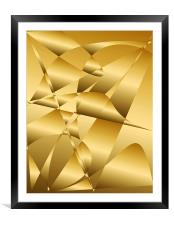 Abstract Light & Shade Textured, Framed Mounted Print