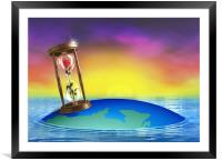 HourGlass - Life Concept, Framed Mounted Print