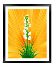Blooming Yucca, Framed Mounted Print