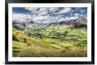 View from Catbells, The Lake District, Framed Mounted Print