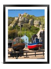 Hastings Fishing Boats, Framed Mounted Print