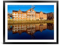 Historic buildings on Woodsmill Quay Queen's Stait, Framed Mounted Print