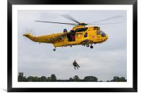 Sea King search & rescue demonstration, Framed Mounted Print
