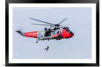 Sea King Mk.41 performing a demo, Framed Mounted Print
