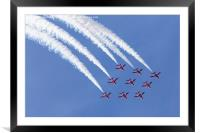Red Arrows looping, Framed Mounted Print