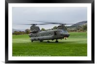 Royal Air Force CH-47-HC.6A Chinook helicopter, Framed Mounted Print