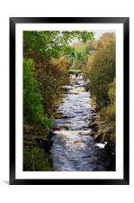 A View of the River Swale in North Yorkshire, Framed Mounted Print