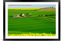 East Yorkshire Wolds, Framed Mounted Print