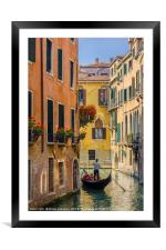 Gondola Ride in Venice, Framed Mounted Print