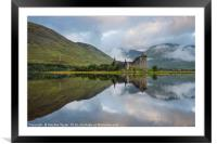 Kilchurn castle and Loch Awe, Framed Mounted Print