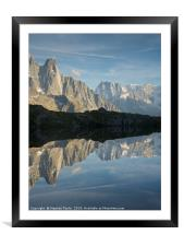 Lac des Cheserys, Framed Mounted Print