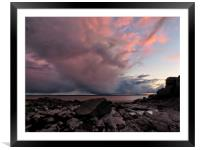 Stormy Sunset          , Framed Mounted Print