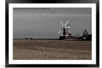 Cley Windmill north Norfolk , Framed Mounted Print